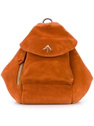 Manu Atelier Mini Backpack Yellow And Orange