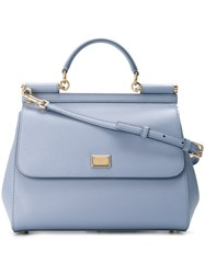 Dolce And Gabbana 'Sicily' Tote Blue