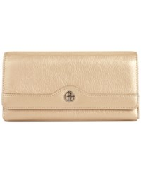 Giani Bernini Pebble Leather Receipt Wallet Gold Silver