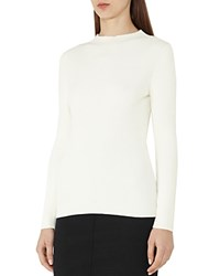 Reiss Duana Ribbed Sweater Off White
