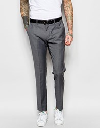 Asos Skinny Smart Suit Trousers In Tonic Grey