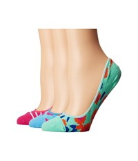 Kate Spade Tangier Floral And Stripes 3 Pack Liner Multi Women's Low Cut Socks Shoes