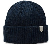 Maple Wool Knit Beanie Blue