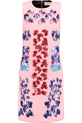 Peter Pilotto Lex Embellished Wool Crepe Dress Pink