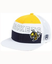 Top Of The World Georgia Tech Yellow Jackets Midcourt Snapback Cap White Gold Navy