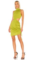 Kendall Kylie Cobain Dress In Green. Citrine