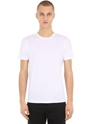 Falke Luxury Cotton And Cashmere Blend Jersey T Shirt White