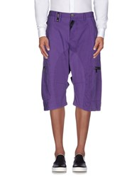 John Galliano Trousers 3 4 Length Trousers Men Purple