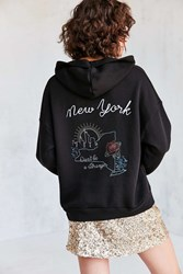 Project Social T Embroidered Souvenir Hoodie Sweatshirt Black Multi