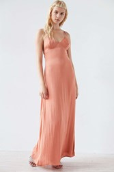 Silence And Noise Yara Maxi Slip Dress Peach