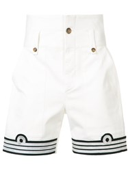 Ports 1961 Military Patch Shorts White