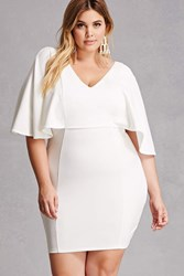 Forever 21 Plus Size Ruffle Bodycon Ivory
