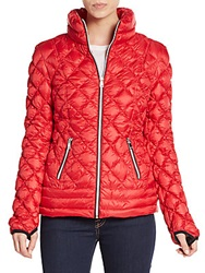 Saks Fifth Avenue Diamond Quilted Down Jacket Ruby Red