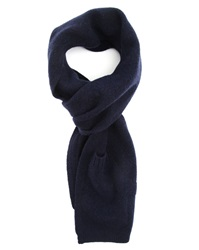 Ymc Navy Blue Integrated Wool Mitten 2 In 1 Scarf