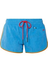 Perfect Moment Rainbow Brushed Shell Shorts Light Blue