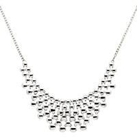 Monet Coin Statement Necklace Silver
