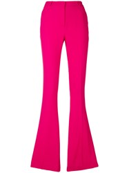 Capucci Flared Fitted Trousers Pink And Purple