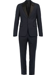 Prada Single Breasted Tuxedo Blue