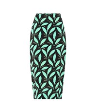Diane Von Furstenberg Printed Crepe Pencil Skirt Multicoloured