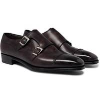 George Cleverley Caine Leather Monk Strap Shoes Brown