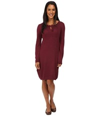 Royal Robbins First Light Sweater Dress Beet Women's Dress Red