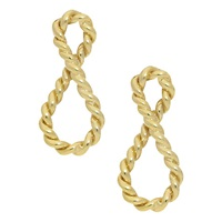 London Road 9Ct Gold Infinity Earrings Gold