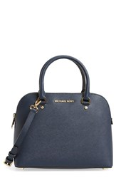 Michael Michael Kors 'Medium Cindy' Dome Satchel Blue Navy