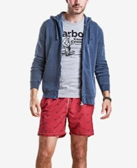 Barbour Beacon Print Swim Trunks Red