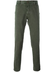 Incotex Destroyed Slim Fit Chinos Green