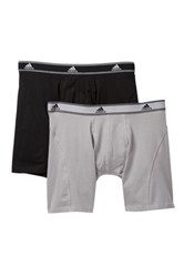Adidas Athletic Stretch Relaxed Boxer Brief Pack Of 2 Gray