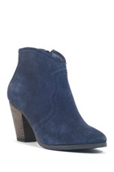 Chelsea Crew Nile Suede Zip Up Western Bootie Blue
