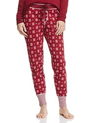 Pj Salvage Fair Isle Jammie Pants Wine Red