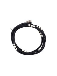 M Cohen M. Triple Beaded Bracelet Black