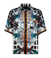 Meng Silk Print Lounge Shirt Black