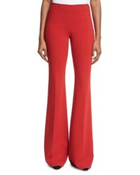 Michael Kors Wool Crepe Side Zip Pants Crimson