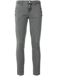 J Brand Zion Cropped Trousers Grey