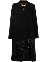 Dries Van Noten Fur Lining Sequin Coat Black