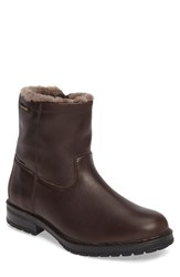 Mephisto Men's Leonardo Genuine Shearling Lined Boot Dark Brown Montana