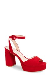 Chinese Laundry Women's Theresa Platform Sandal Lollipop Red