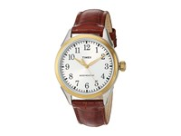 Timex Briarwood Terrace Croco Pattern Leather Strap Brown Two Tone Watches