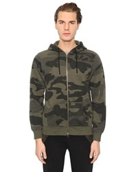 Hydrogen Camouflage Cotton Zip Up Sweatshirt
