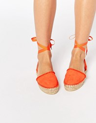 Miss Kg Pom Pom Espadrille Orange
