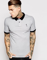 Religion Oil Wash Polo Shirt Rockgrey