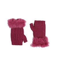 Ugg Crochet Gloves W Lurex Sequins Toscana Trim Bougainvillea Multi Extreme Cold Weather Gloves Purple