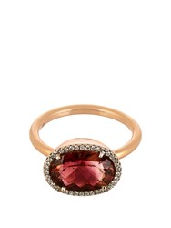 Irene Neuwirth Diamond Tourmaline And Rose Gold Ring