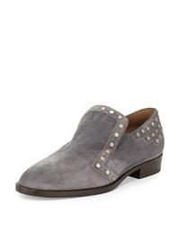 Laurence Dacade Jay Studded Suede Loafer Gray Grey