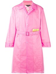 Martine Rose Wanted Patch Raincoat Pink