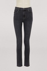 J Brand Maria High Waisted Skinny Jeans Obscura