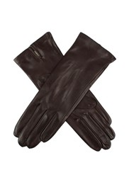 Dents Ladies Silk Lined Leather Gloves Brown