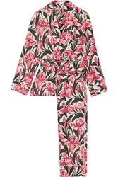 Equipment Odette Printed Washed Silk Pajama Set Pink